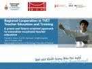 Lesson Regional cooperation in TVET teacher education and training