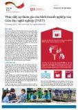 Thúc đẩy sự tham gia của khối doanh nghiệp vào Giáo dục nghề nghiệp (TVET)