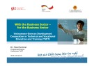 Lesson Vietnamese - German development cooperation in technical and vocational education and training (TVET)