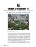 Quản lý không gian đô thị - Tầm nhìn mới trong quy chuẩn kỹ thuật quốc gia về quy hoạch xây dựng – QCVN 01:2019