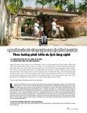 Định hướng giải pháp cải tạo không gian mặt nước làng Chuông theo hướng phát triển du lịch làng nghề