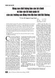 Nâng cao chất lượng báo cáo tài chính và báo cáo kế toán quản trị của các trường cao đẳng trên địa bàn tỉnh Hải Dương