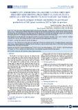 Nghiên cứu ảnh hưởng của mật độ và công thức bón phân đến sinh trưởng, phát triển và năng suất của giống lúa nếp N612 trong vụ Xuân năm 2017 tại Nghệ An