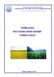 Thông báo Khí tượng nông nghiệp tháng 4/2019