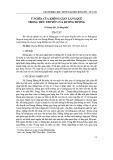 Ý nghĩa của không gian làng quê trong tiểu thuyết của Dương Hướng