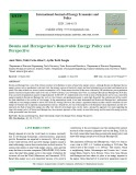 Bosnia and Herzegovina's renewable energy policy and perspective