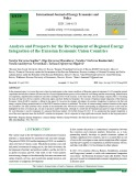 Analysis and prospects for the development of regional Energy integration of the Eurasian economic Union countries
