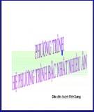 Bài giảng Đại số 10 - Bài 3: Phương trình và hệ phương trình bậc nhất nhiều ẩn (Huỳnh Minh Quang)