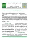 Strategic energy partnership between Russia and China