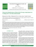 Theoretical implications of renewable energy using improved cooking stoves for rural households