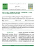 Energy prices, income and electricity consumption in Africa: The role of technological innovation