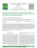 The increasing of competitiveness of agro-industry products through institutional empowerment to support the achievement of sustainable agricultural development
