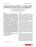 Surface charge characteristics of a variable charge soil (Rhodic Ferralsols) in the Central Highlands