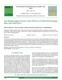 The relationship between crude oil prices, EUR/USD exchange rate and gold prices