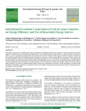 International economic cooperation of central ASIAN countries on energy efficiency and use of renewable energy sources