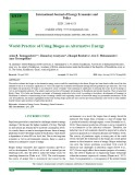 World practice of using biogas as alternative energy