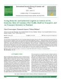 Seeing domestic and industrial logistic in context of CO2 emission: Role of container port traffic, railway transport, and air transport intensity in Thailand