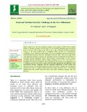 Food and nutrition security: Challenges in the new millennium