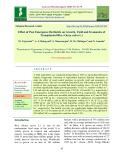 Effect of post emergence herbicide on growth, yield and economics of transplanted rice (Oryza sativa L.)