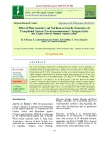 Effect of plant geometry and nutrition on growth, parameters of Transplanted Ajowan (Trachyspermum ammi L. Sprague) in the red loamy soils of Andhra Pradesh, India