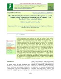 Effect of soil fertility constraints based nutrient management on growth, yield and quality parameters of groundnut (Arachis hypogaea L.) at kurthkoti-2 micro-watershed, gadag