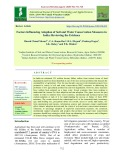 Factors influencing adoption of soil and water conservation measures in India: Reviewing the evidence