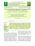 Effect of crop establishment techniques and N levels of rice on system productivity and economics of rice- greengram system