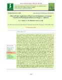 Effect of foliar application of plant growth regulators on seasonal variation in physiological behavior in mango cv. Alphonso