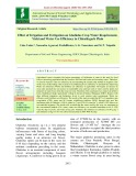 Effect of irrigation and fertigation on gladiolus crop water requirement, yield and water use efficiency in Chhattisgarh plain