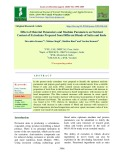 Effect of material parameters and machine parameters on nutrient content of extrudates prepared from different blends of sattu and kodo