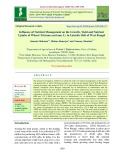 Influence of nutrient management on the growth, yield and nutrient uptake of wheat (Triticum aestivum. L) in lateritic belt of west bengal