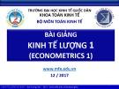 Bài giảng Kinh tế lượng 1 - Bùi Dương Hải (2017)