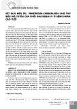 Kết quả điều trị pemetrexed carboplatin ung thư biểu mô tuyến của phổi giai đoạn IV ở bệnh nhân cao tuổi