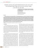 Nghiên cứu pha chế chất phân tán dầu từ các hóa chất hoạt động bề mặt tổng hợp phù hợp với đặc trưng của dầu thô Việt Nam