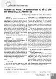 Nghiên cứu phân lập isoflavonoid từ rễ củ sắn dây bằng nhựa hấp phụ H103