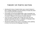 Lecture Literary criticism - Lecture 18: Theory of poetic diction