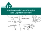 Lecture Multinational financial management: Lecture 17 - Dr. Umara Noreen