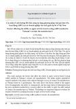 Các nhân tố ảnh hưởng đến khả năng áp dụng phương pháp tính giá dựa trên hoạt động (ABC) tại các doanh nghiệp sản xuất gạch ốp lát ở Việt Nam