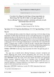 Các nhân tố tác động tới sự hài lòng và lòng trung thành của khách hàng Việt Nam đối với dịch vụ thẻ ngân hàng quốc tế