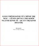 Giáo trình kinh tế chính trị Mác - Lênin (Dùng cho khối ngành Kinh tế - Quản trị kinh doanh): Phần 1