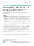 Hypermethylation of CDKN2A exon 2 in tumor, tumor-adjacent and tumor-distant tissues from breast cancer patients