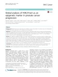 Global analysis of H3K27me3 as an epigenetic marker in prostate cancer progression