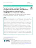 Tumor burden of persistent disease in patients with differentiated thyroid cancer: Correlation with postoperative risk stratification and impact on outcome