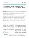 An approach to forecast human cancer by profiling microRNA expressions from NGS data
