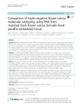 Comparison of triple-negative breast cancer molecular subtyping using RNA from matched fresh-frozen versus formalin-fixed paraffin-embedded tissue