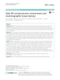 Early life socioeconomic environment and mammographic breast density