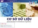 Bài giảng Cơ sở dữ liệu (Introdution to database system) - Chương 2: Mô hình thực thể kết hợp