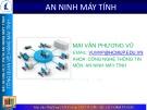 Bài giảng An ninh máy tính - Mai Vân Phương Vũ