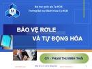Bài giảng Bảo vệ Rơle & tự động hóa: Chương 1 - Phạm Thị Minh Thái