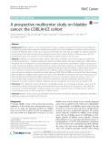 A prospective multicenter study on bladder cancer: The COBLAnCE cohort